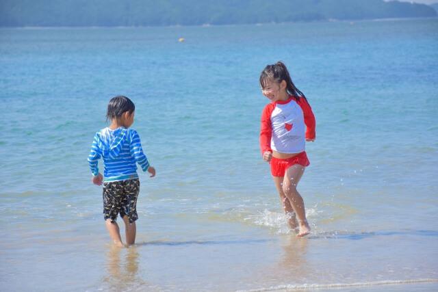 沖縄,海,子供