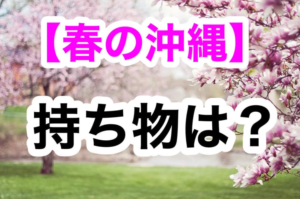 春,沖縄,持ち物